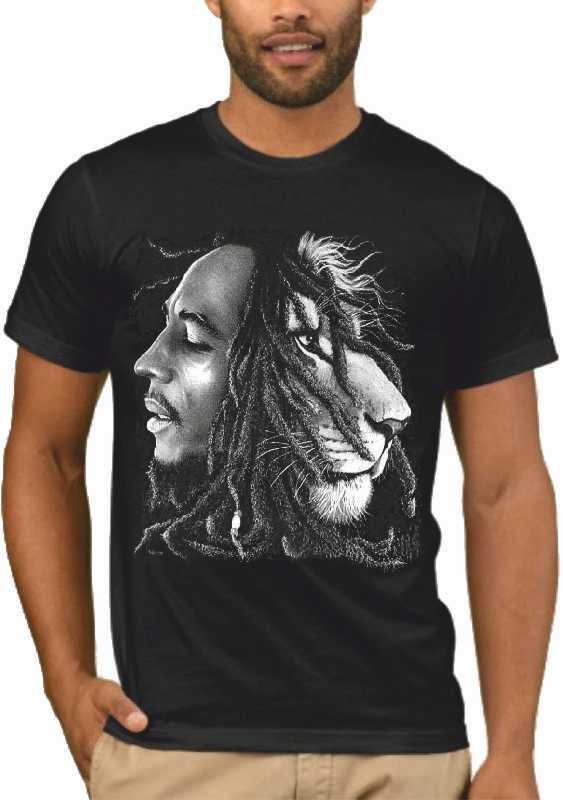 Μπλούζα με μεταξοτυπία Bob Marley Lion Rasta