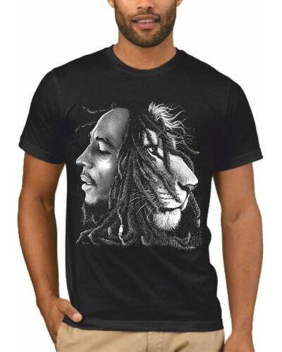 Μπλούζα με στάμπα Bob Marley Lion Rasta