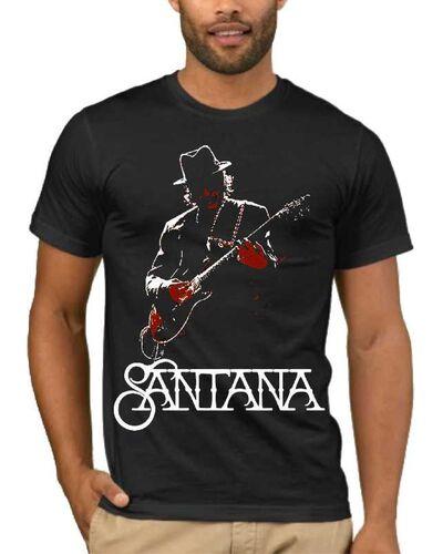 Μπλούζα με στάμπα Carlos Santana with guitar