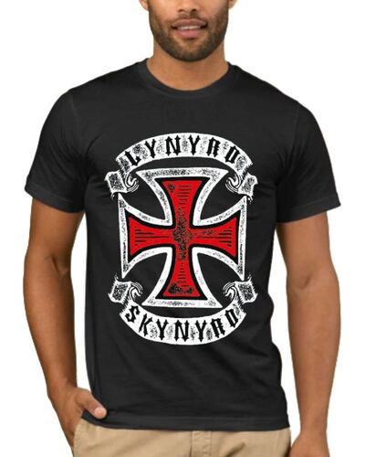 Μπλούζα με στάμπα Lynyrd Skynyrd Red Cross Vintage Style Rock Band