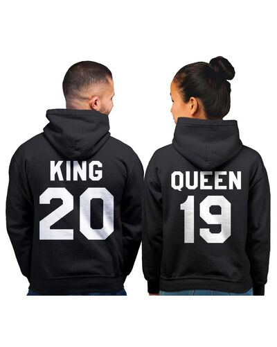 King and Queen Hoodie, King Queen Hoodie, King Queen Sweaters, Custom Number, Couples Hoodie, Couple Sweaters, Custom Hoodie, King And Queen
