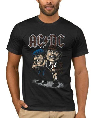 Μπλούζα με μεταξοτυπία AC/DC Cartoon Angus Young Brian Johnson