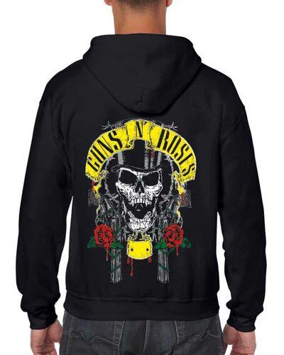 Μπλούζα με μεταξοτυπία Guns N' Roses Slash Skull Head