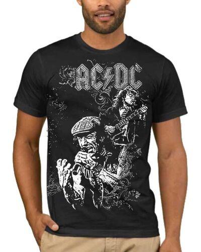 Μπλούζα με μεταξοτυπία AC/DC Angus Young, Brian Johnson