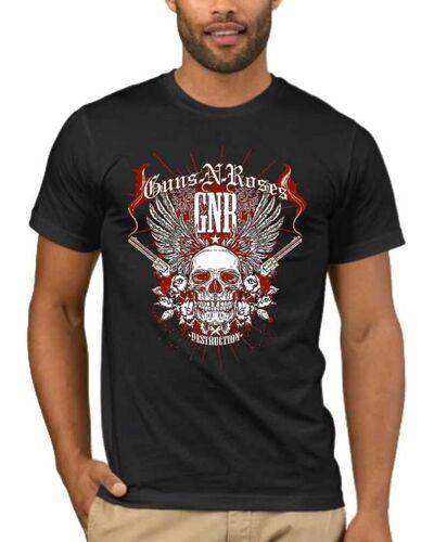 Μπλούζα με μεταξοτυπία Guns n Roses Destruction