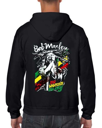 Μπλούζα με μεταξοτυπία Bob Marley No Woman No Cry