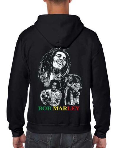 Μπλούζα με μεταξοτυπία σε μαύρο φούτερ Bob Marley Reggae Creator