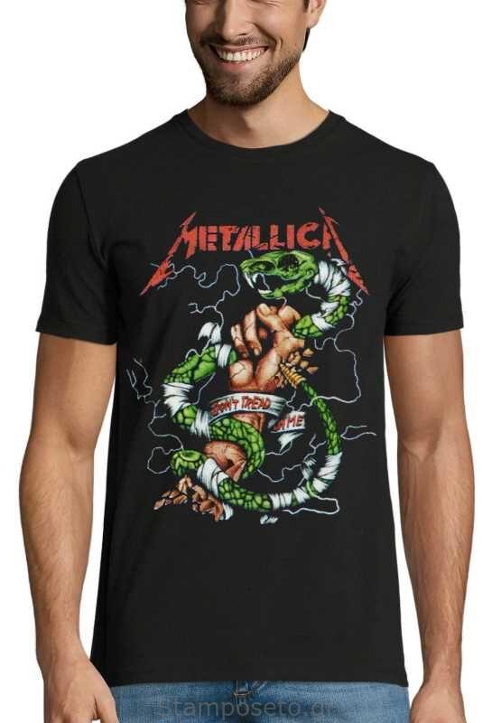 Μπλούζα με μεταξοτυπία Metallica Don't Tread On Me