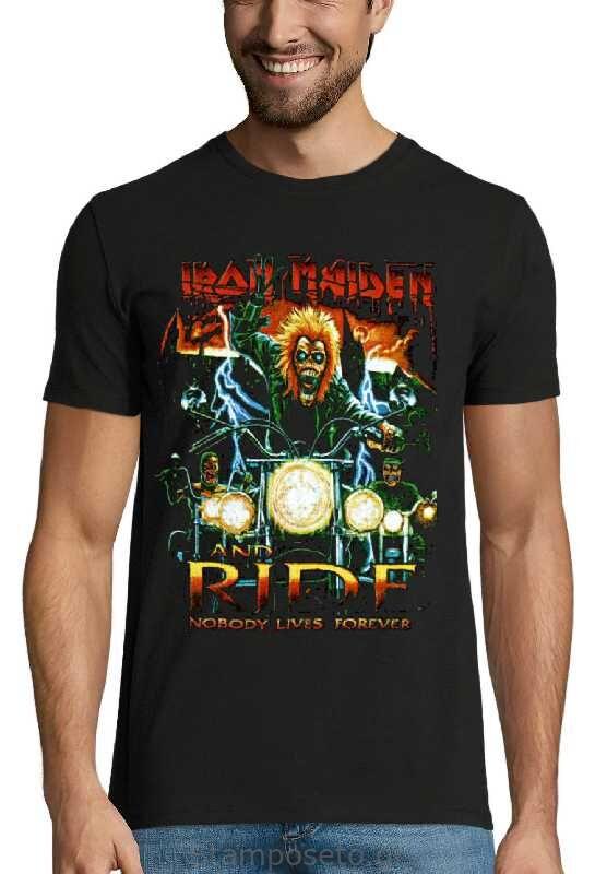 Μπλούζα με μεταξοτυπία Iron Maiden Nobody Lives Forever