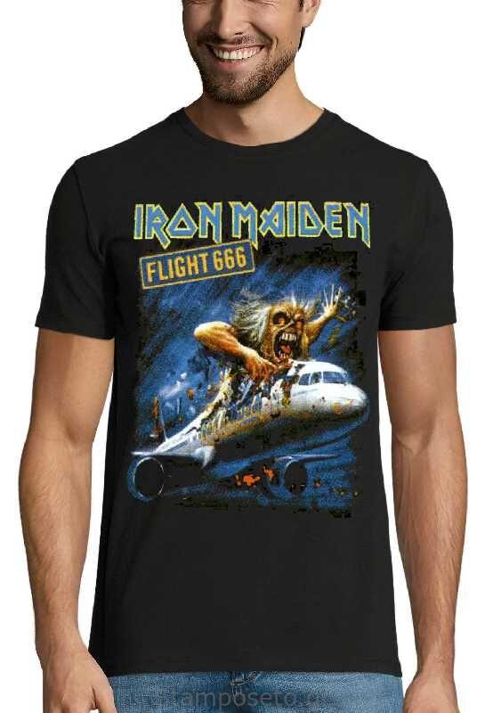 Μπλούζα με μεταξοτυπία Iron Maiden Flight 666