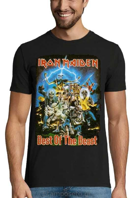 Μπλούζα με μεταξοτυπία Iron Maiden Best of the Beast