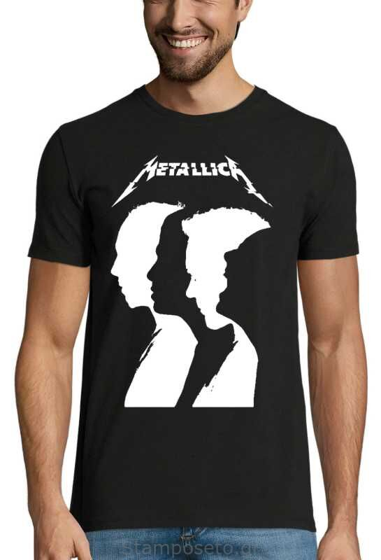 Μπλούζα με μεταξοτυπία Metallica Band Silhouette