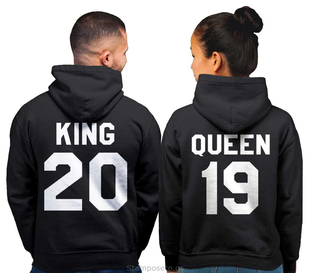 King and Queen Hoodie, King Queen Hoodie, King Queen Sweaters, Custom Number, Couples Hoodie, Couple Sweaters, Custom Hoodie, King And Queen
