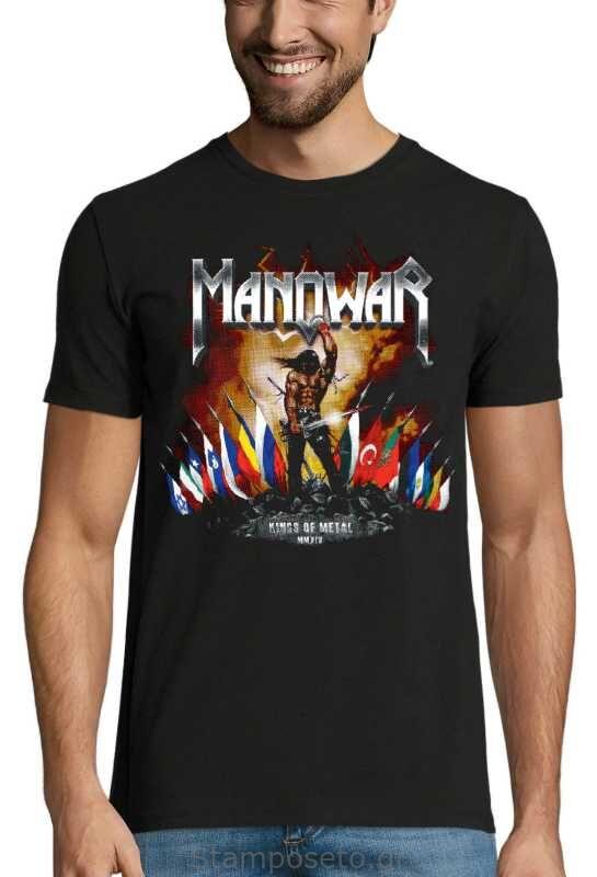 Μπλούζα με μεταξοτυπία Manowar Kings of Metal MMXIV