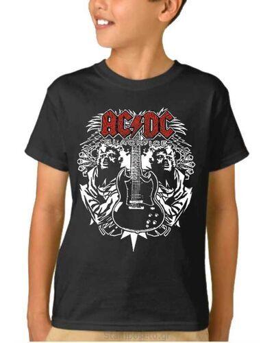 Παιδικό μπλουζάκι με μεταξοτυπία ACDC Angus Young Guitar