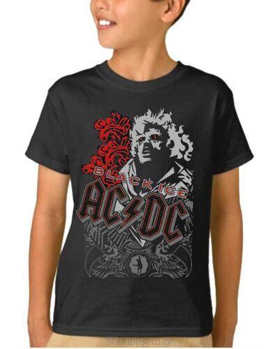 Παιδικό μπλουζάκι με μεταξοτυπία AC/DC Black Ice