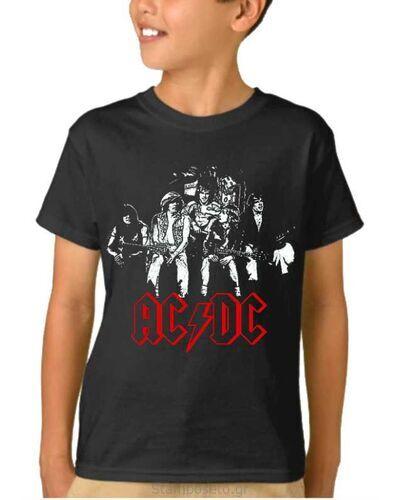 Παιδικό μπλουζάκι με μεταξοτυπία AC/DC Original Band Members