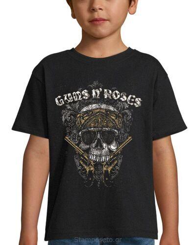 Παιδικό μπλουζάκι με μεταξοτυπία Guns N' Roses Pistols