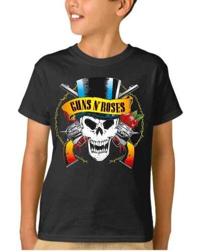 Παιδικό μπλουζάκι με μεταξοτυπία Guns N' Roses Skull License