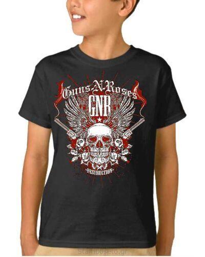 Παιδικό μπλουζάκι με μεταξοτυπία Guns N' Roses Destruction