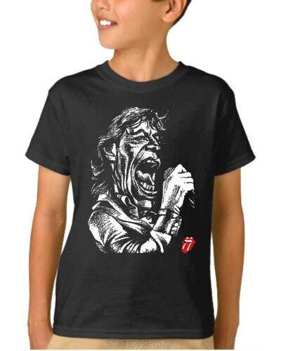 Παιδικό μπλουζάκι με μεταξοτυπία Rolling Stones Mick Jagger