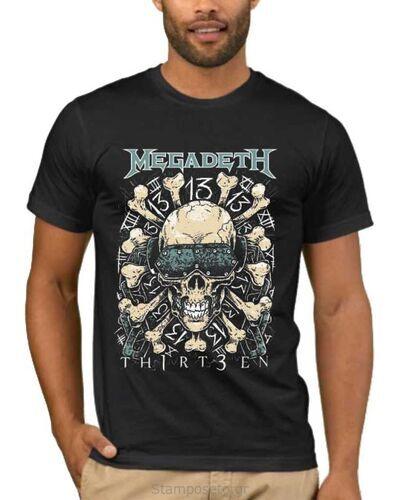 Μπλούζα με στάμπα Megadeth 13 Thirteen Skull & Bones