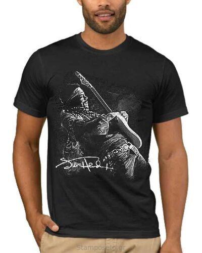 Μπλούζα με στάμπα Jimi Hendrix White Fender Stratocaster