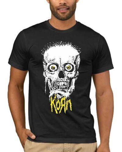 Μπλούζα με στάμπα Korn Giant Skull