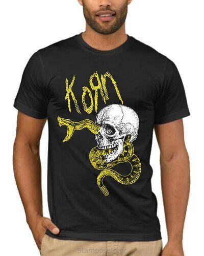 Μπλούζα με στάμπα Korn Snake Skull