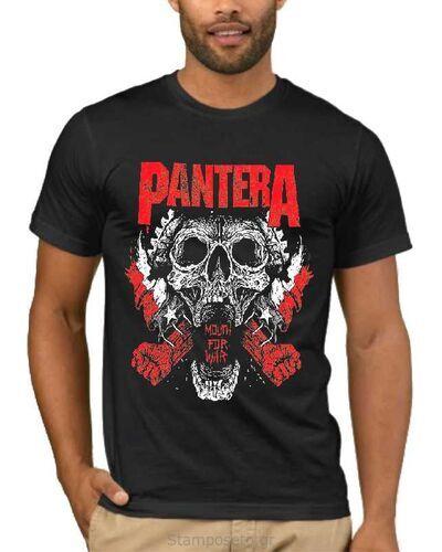 Μπλούζα με στάμπα Pantera Mouth For War
