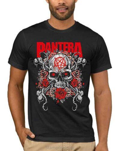 Μπλούζα με στάμπα Pantera Skull