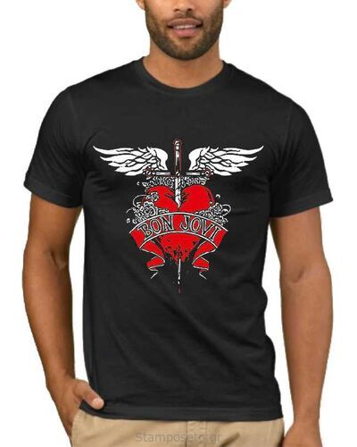 Μπλούζα με στάμπα Bon Jovi Daggered