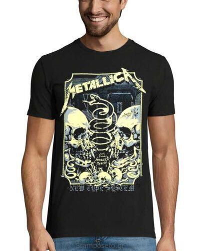 Μπλούζα με μεταξοτυπία Metallica New Type System