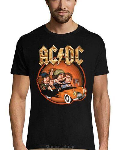 Μπλούζα με μεταξοτυπία AC/DC Back in Business Again