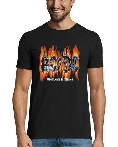 Μπλούζα με μεταξοτυπία AC/DC Shot Down in Flames