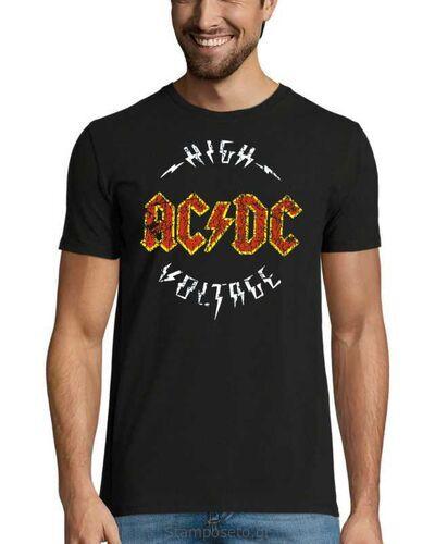 Μπλούζα με μεταξοτυπία AC/DC High Voltage T-Shirt Black