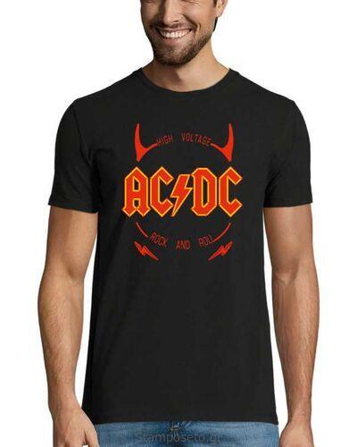 Μπλούζα με μεταξοτυπία AC/DC High Voltage Rock & Roll