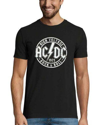 Μπλούζα με μεταξοτυπία AC/DC High Voltage Official Rock n Roll