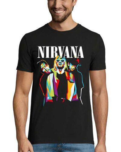 Μπλούζα με μεταξοτυπία  Nirvana Band