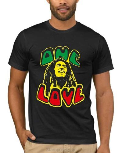 Μπλούζα με μεταξοτυπία Bob Marley One Love