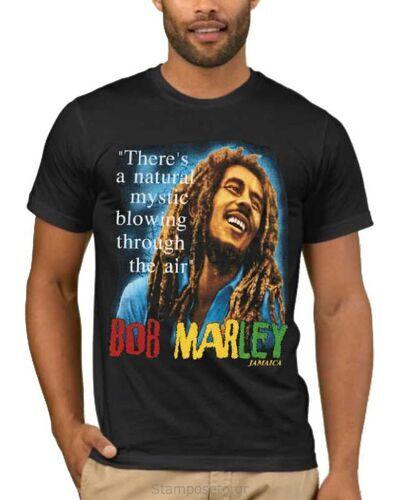 Μπλούζα με μεταξοτυπία Bob Marley There's a natural mystic blowing through the air