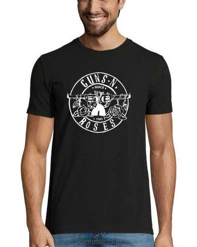Μπλούζα με μεταξοτυπία Guns N' Roses Bullet white Logo