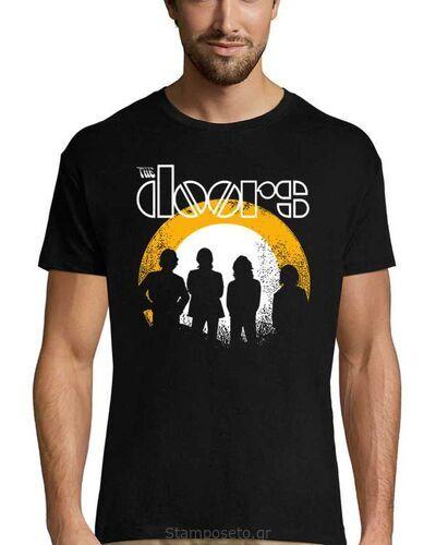 Μπλούζα με μεταξοτυπία The Doors T Shirt Dusk Distressed Band Logo