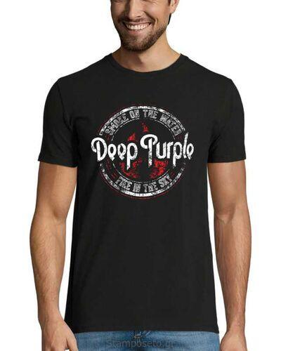 Μπλούζα με μεταξοτυπία Deep Purple Smoke On The Water Fire in The Sky